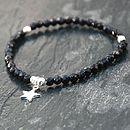 Handmade Silver Star And Onyx Bracelet
