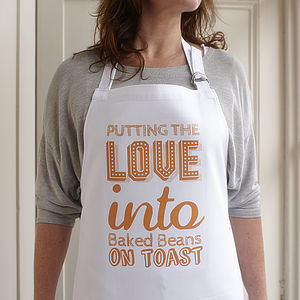 Putting The Love Into Baked Beans… Apron - kitchen accessories