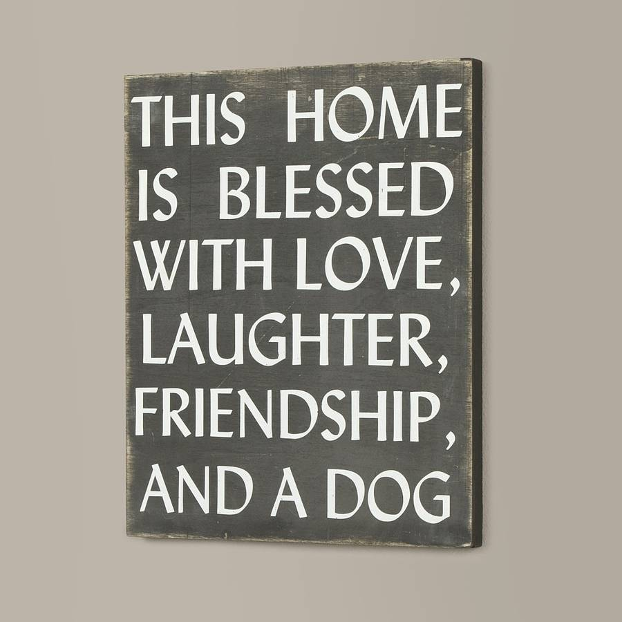 Wall Plaques Glamorous Love Laughter And Dog Wall Plaquedibor  Notonthehighstreet Review