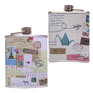Bon Voyage Hip Flask - wine & drink gifts