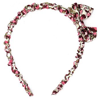 Hairband   Liberty Fabric With Bow