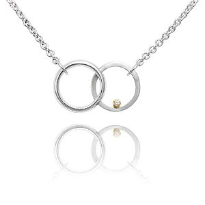 Twin Circle Diamond Pendant - necklaces & pendants