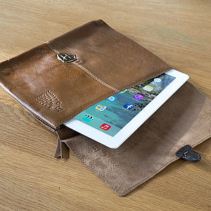 Buffalo Leather Old School iPad Case - bags & cases