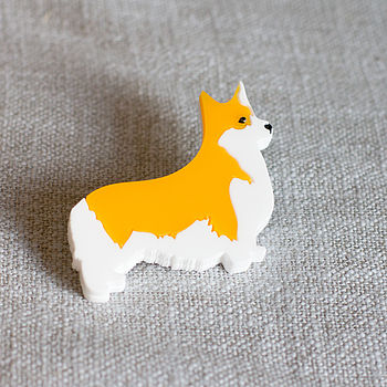 Corgi Dog Brooch