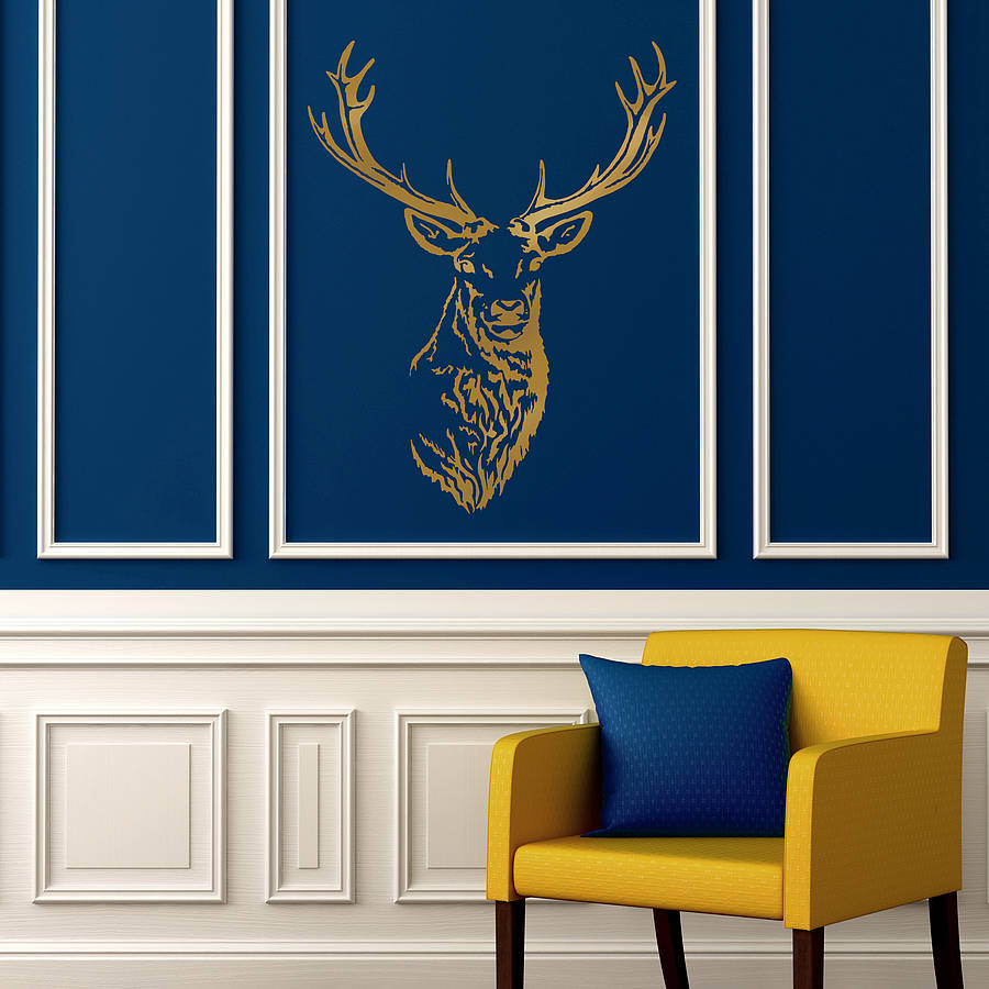 Stag Head Vinyl Wall Sticker Part 82