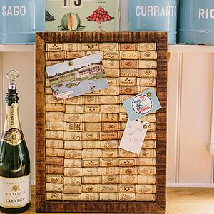 Wine Cork Handmade Recycled Noticeboard - noticeboards