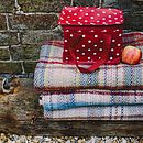 Checked Recycled Wool Blanket