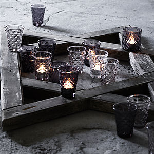 Facet Glass Votive - alfresco dining