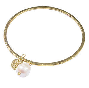 Pearl Charm Bangle - charm jewellery