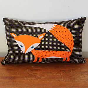 Red Fox Cushion - patterned cushions