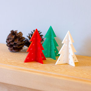 Laser Cut Table Top Christmas Tree Decoration - bright christmas
