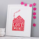 Personalised Our Home Print - home