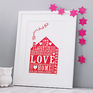 Personalised Our Home Print - gifts for families