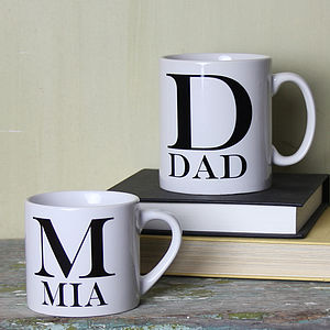 Personalised Initial Mug - crockery & chinaware