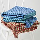 Popper Trio Woven Wool Throw