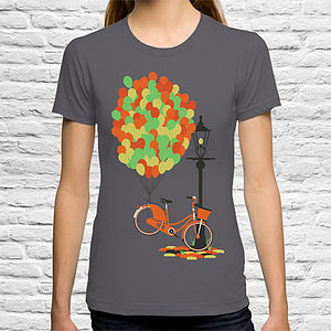 Balloons On Bicycle T Shirt