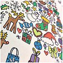 Colour In Tree Christmas Sack