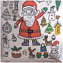 Colour In Santa Christmas Sack