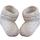 Baby Booties Hand Made Unisex