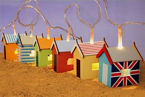 Beach Hut Light Garland - lights & candles
