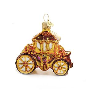 Little Golden Coach Christmas Bauble - tree decorations
