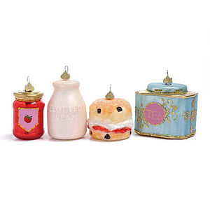 Little English Cream Tea Bauble Set