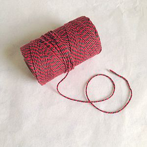 Christmas Red And Green Stripe Bakers Twine - finishing touches