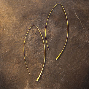 Gold Hairpin Style Earrings - earrings