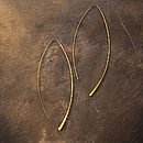 Gold Wire Hairpin Earrings