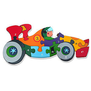 Number Racing Car Jigsaw Puzzle - traditional toys & games