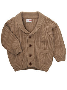 Harry Knit Cardigan Light Brown - baby & child