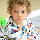 Boy's 'Planes And Trains' Cotton Pyjamas