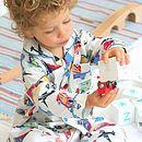 Boy's 'Planes And Trains' Cotton Pyjamas