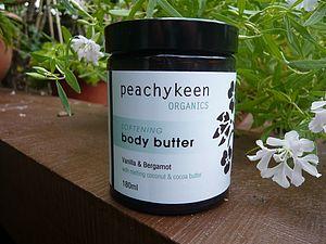 Organic Body Butter   Vanilla And Bergamot