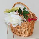 Child's Wicker Bicycle Basket