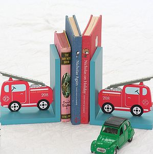 Fire Engine Bookends - children's room