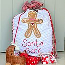 Gingerbread Man Santa Sack