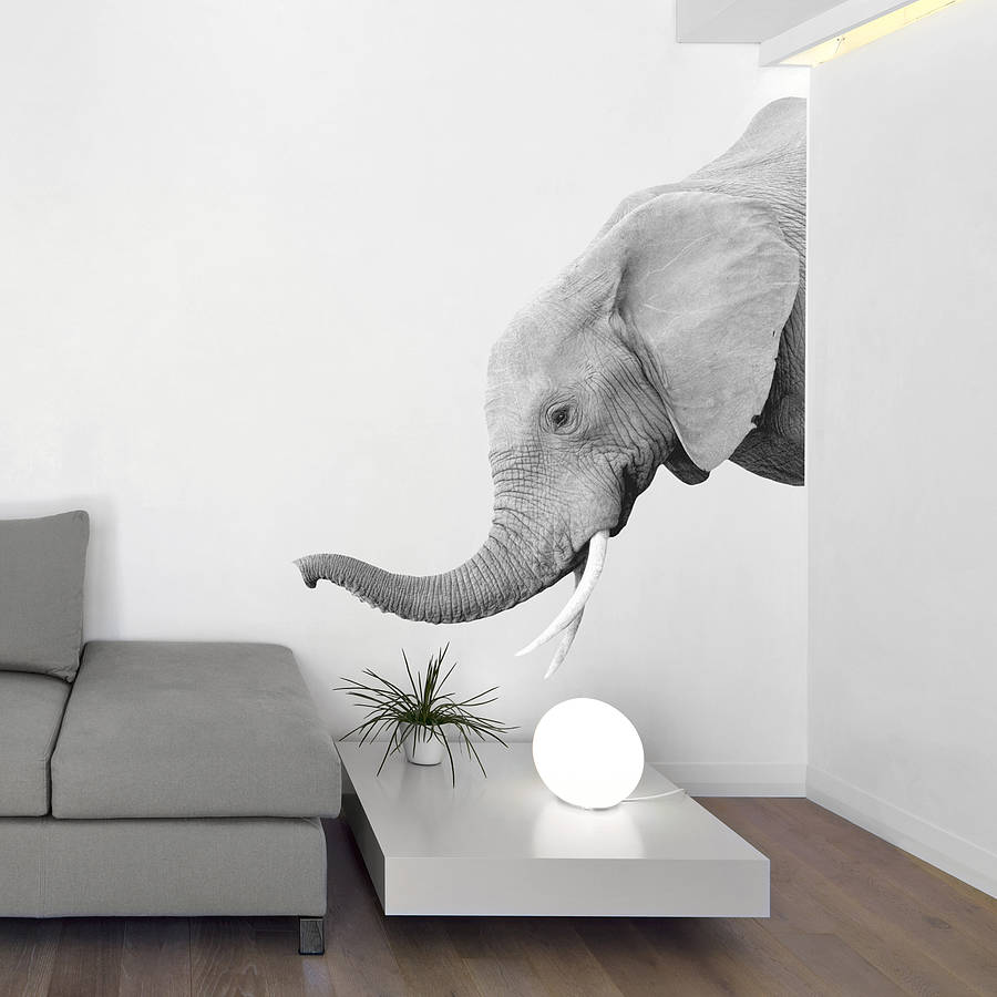 Elephant Wall Sticker By Oakdene Designs Notonthehighstreetcom - Elephant wall decals