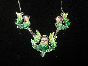 1950's Scottish Thistle Necklace