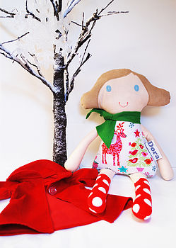 Personalised Handmade Christmas Doll