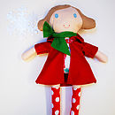 Personalised Handmade Christmas Doll