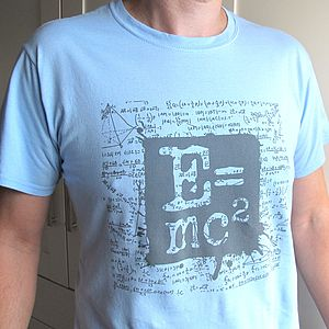 E=Mc2 Einstein Physics Mens T Shirt - gifts for geeks