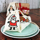 Personalised Christmas Character Mini Bag