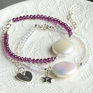 Handmade Coin Pearl Bracelet In Silver - bracelets & bangles