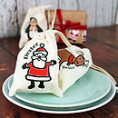 mini drawstring father christmas