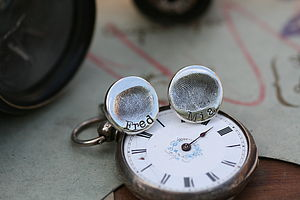 Fingerprint Coin Cufflinks - cufflinks