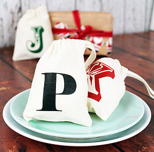Personalised Initial Christmas Mini Bag - stockings & sacks