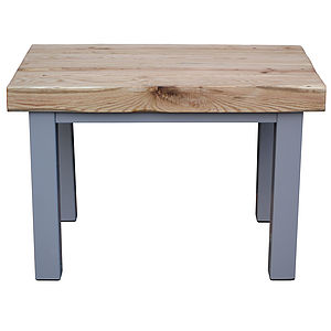 Oak And Iron Small Dining Table - dining room