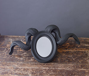 Ram Horn Mirror *80% Off Clearance Sale - mirrors