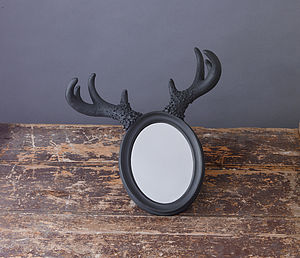 Deer Horn Mirror Less Than Half Price - mirrors